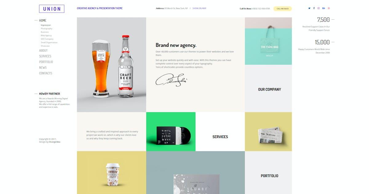 Download Union - Portfolio and Agency WordPress Theme by OrangeIdea