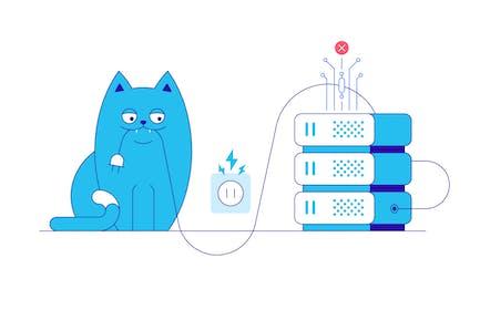 Server Error and Cat