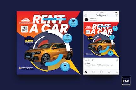 Rent a Car Square Flyer & Instagram Post