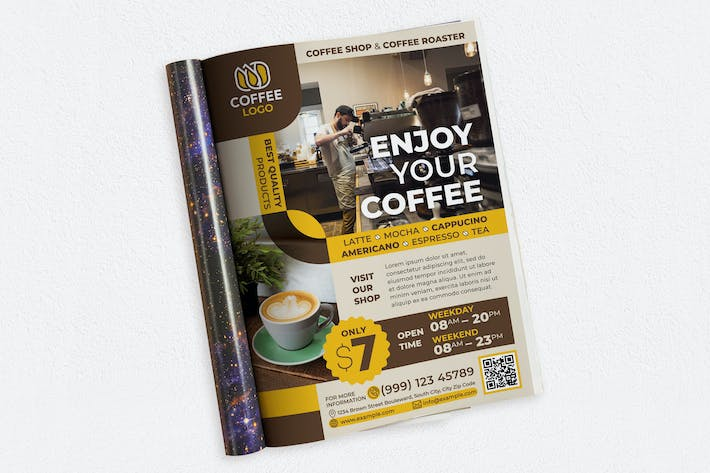 Thumbnail for Enjoy Your Coffee Ads Magazine
