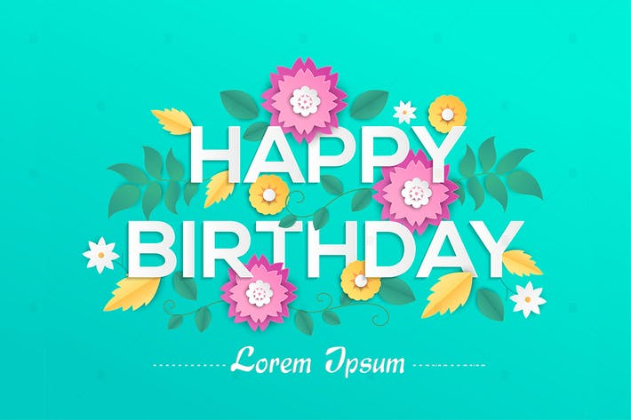 Thumbnail for Happy birthday - vector colorful illustration