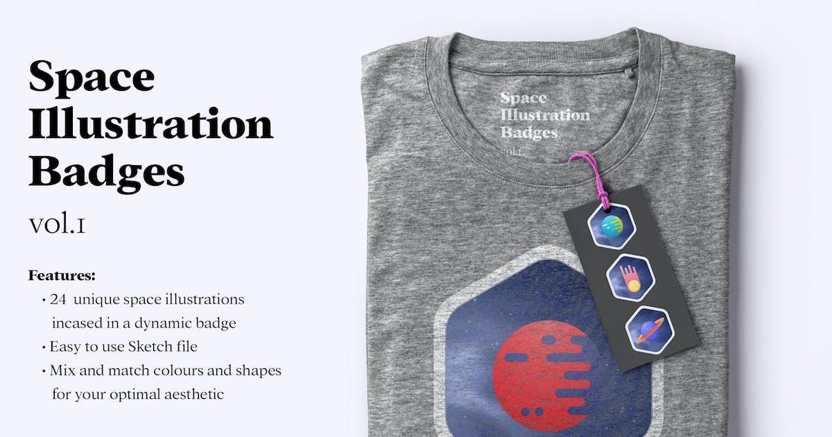 Download 24 Space illustration badges by milktoast