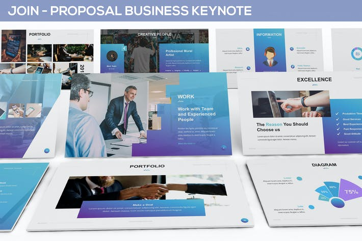 Join Proposal Business Keynote Template By Slidefactory On Envato