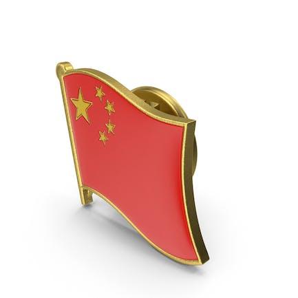 Anstecknadel der chinesischen Nationalflagge