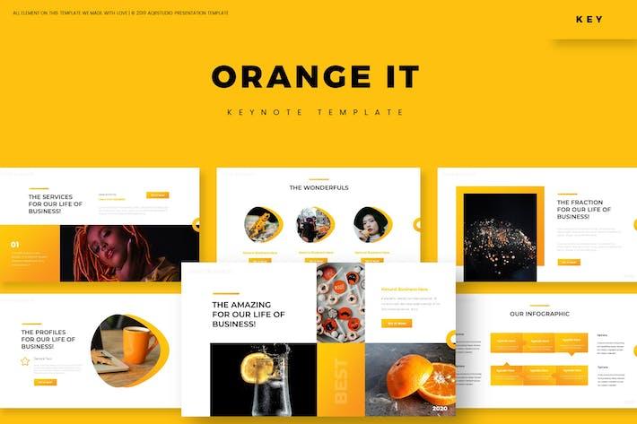Оранжевый It - Шаблон Keynote