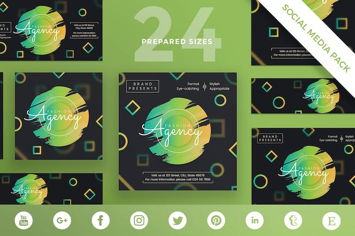Thumbnail for Fashion Agency Social Media Pack Template