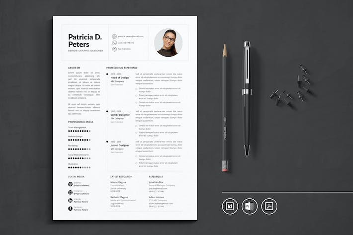 Thumbnail for Professional CV Resume Indesign Template Vol.38