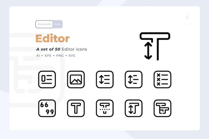 Thumbnail for Smoothline - 50 Editor Element icon set