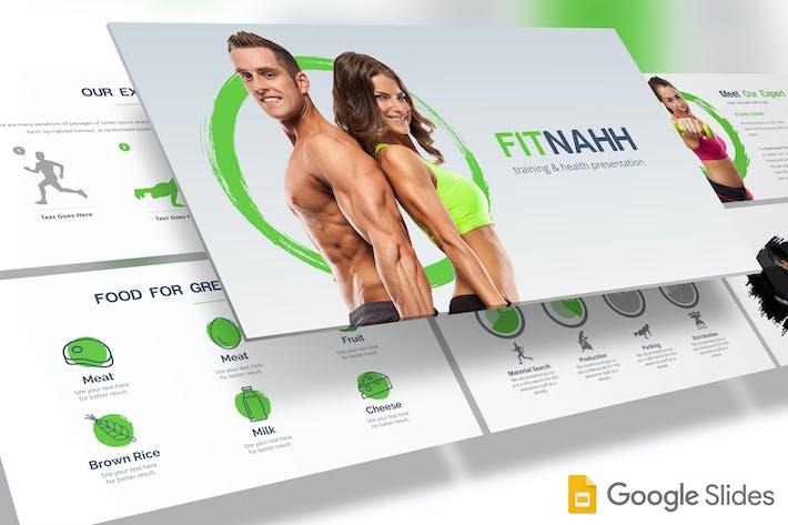 Cover Image For Fitnahh - Google Slides Template