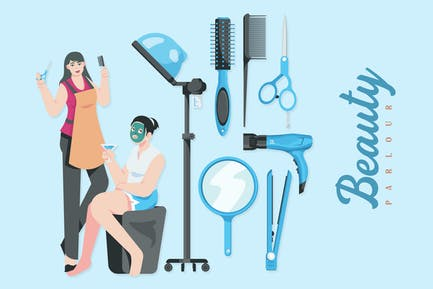 Beauty Parlour - Illustrations