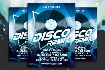 Disco Remix Party Flyer