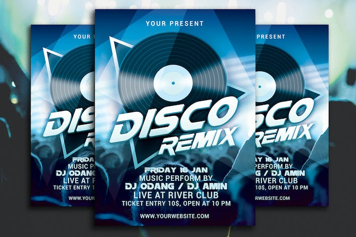 Thumbnail for Disco Remix Party Flyer