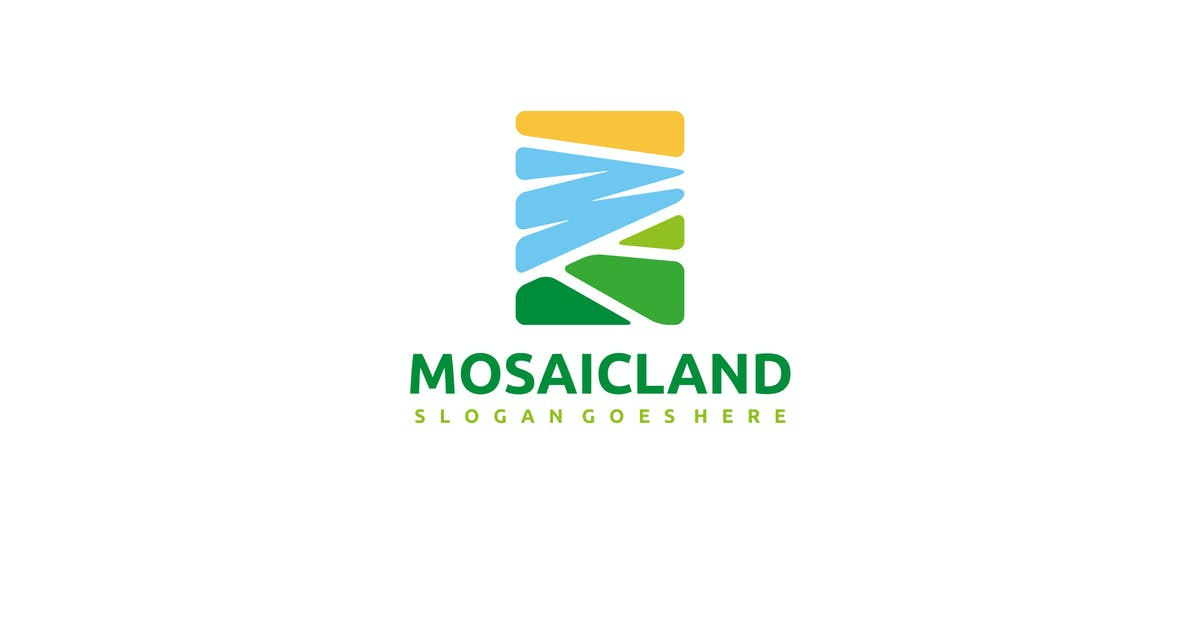 Mosaic Landscape Logo by 3ab2ou