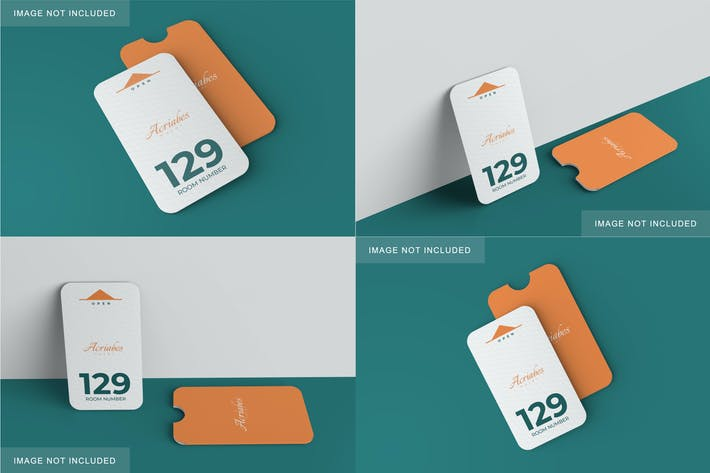 Thumbnail for Minimalistische Karte & Halter Mockup