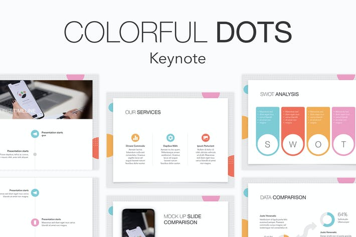Thumbnail for Colorful Dots Keynote Template