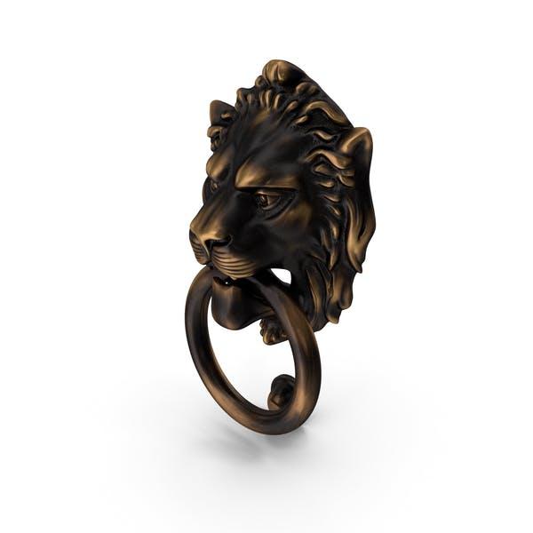 Antique Brass Lion Door Knocker