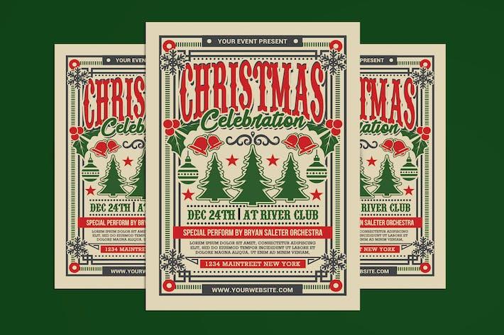 Thumbnail for Christmas Celebration Vintage Flyer