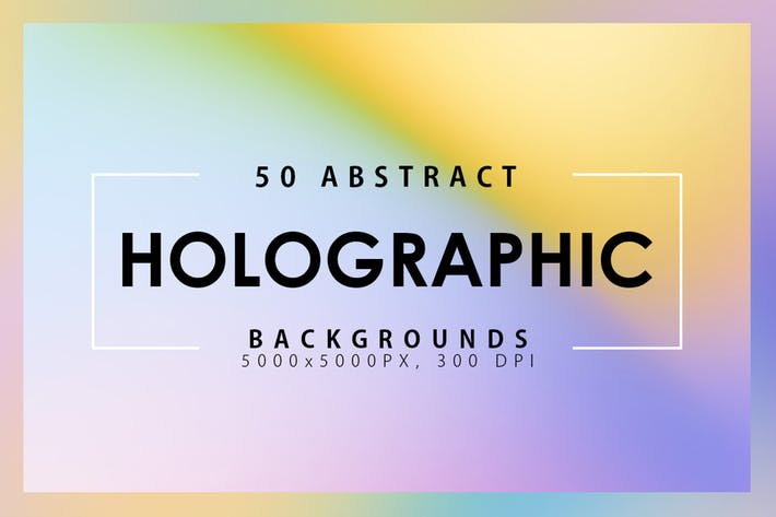 Cover Image For 50 Holographic Backgrounds