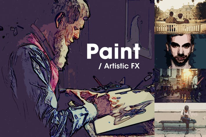 Thumbnail for Paint | Artistic FX Photoshop Template