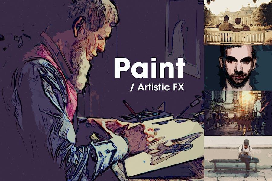 Paint   Artistic FX Photoshop Template