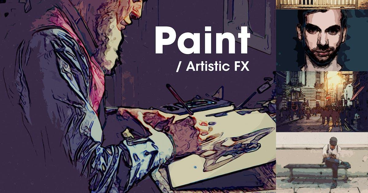 Download Paint | Artistic FX Photoshop Template by devotchkah