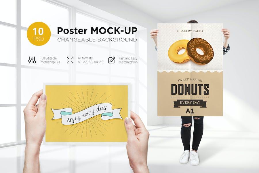 10 Poster Mock-Up (Female Model)