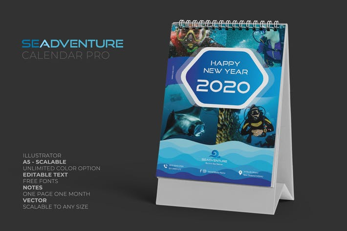 2020 Sea Activities Calendar Pro