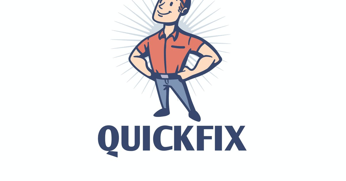 Download Quick Fix - Vintage Retro Repairman Mascot Logo by Suhandi