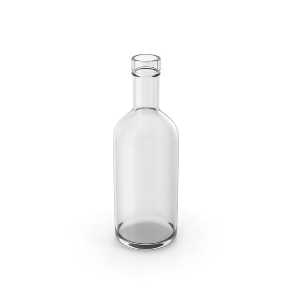 Сухая бутылка джина пустая