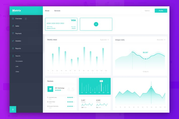 Thumbnail for Metrix - Invoice Dashboard