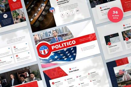 Political Election Campaign PowerPoint Template