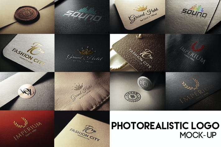 Thumbnail for Fotorealistische Logo Mock-Up