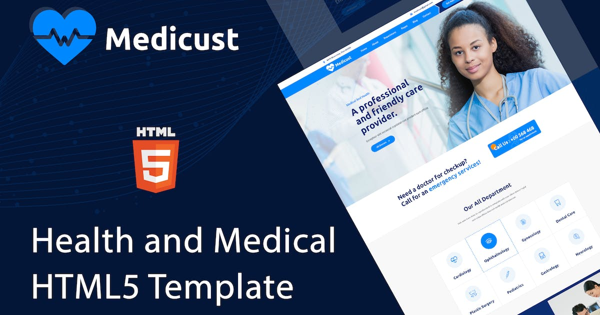 Download Medicust - Health and Medical HTML5 Template by envalab