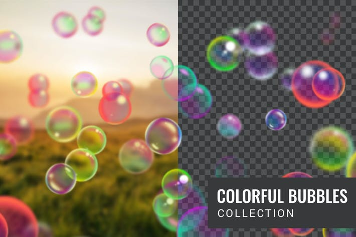 Thumbnail for Colorful soap bubble collection
