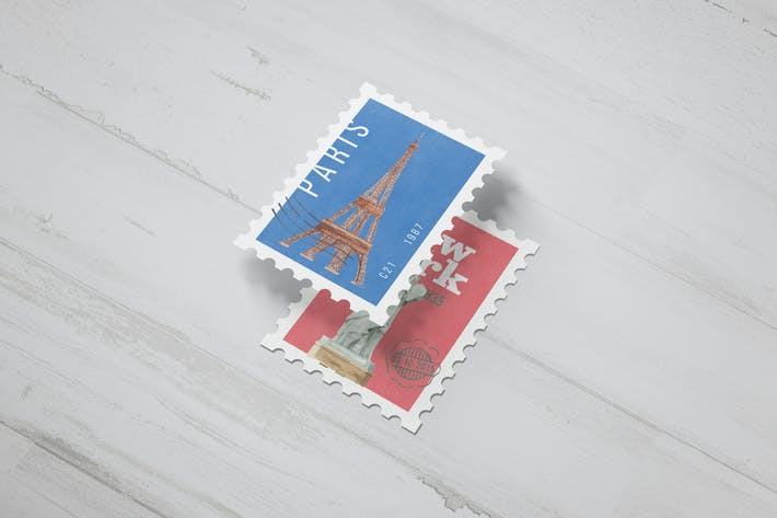 Thumbnail for Postage Stamp Mockups