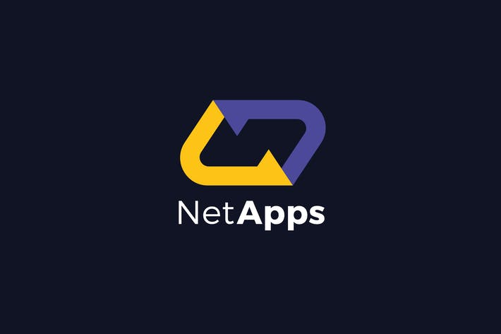 Thumbnail for Net Apps N Letter Logo Template