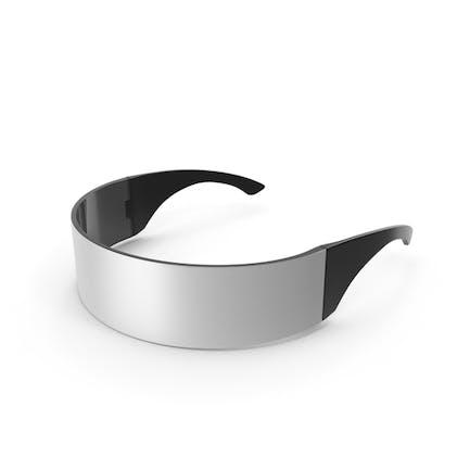 Metallic Silver Futuristic Soldier Glasses