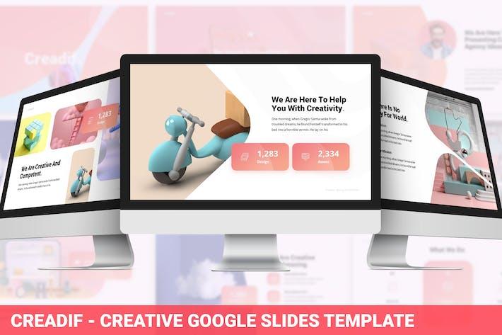 Thumbnail for Creadif - Творческий Шаблон слайдов Google