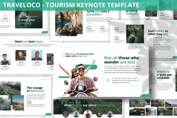 Thumbnail for Traveloco - Tourism Keynote Template