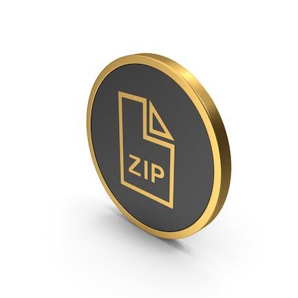 Archivo ZIP Gold Icon