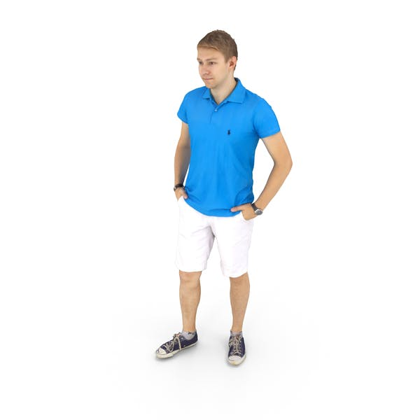 Man Standing Summer Casual