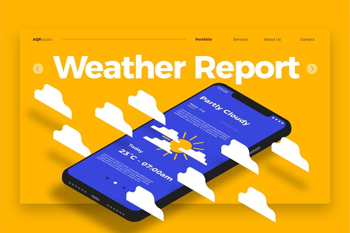 Thumbnail for Weather Report - Banner & Landing Page