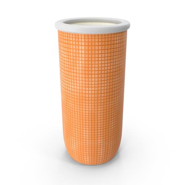 Оранжевая керамическая ваза