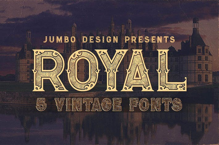 Thumbnail for Royal - Vintage Style Font
