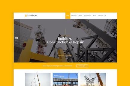 Konstrukt - Construction Joomla Template