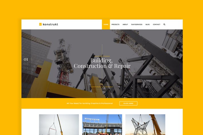 Thumbnail for Konstrukt - Construction Joomla Template