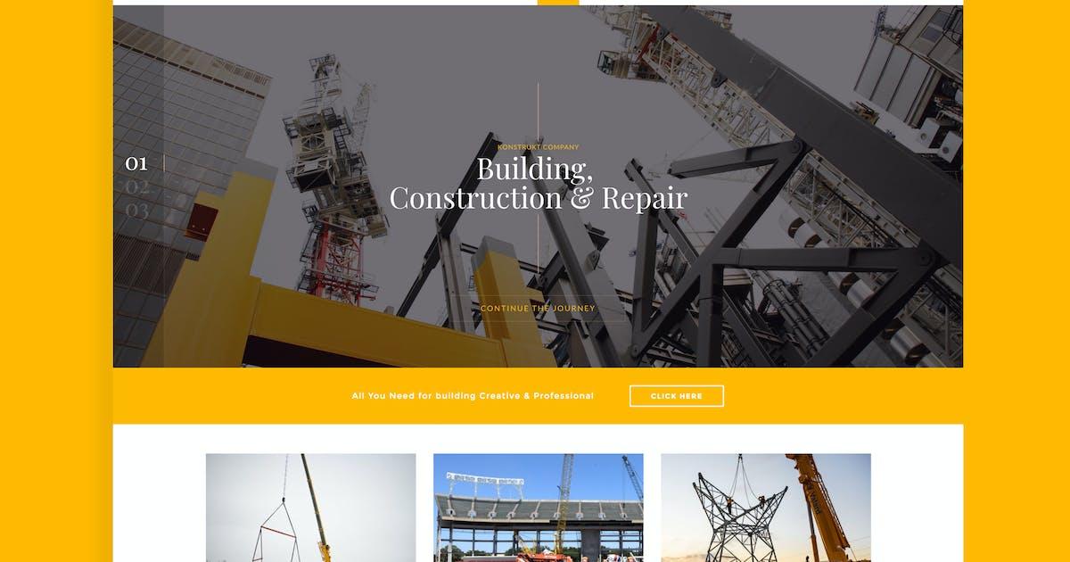 Download Konstrukt - Construction Joomla Template by Nunforest