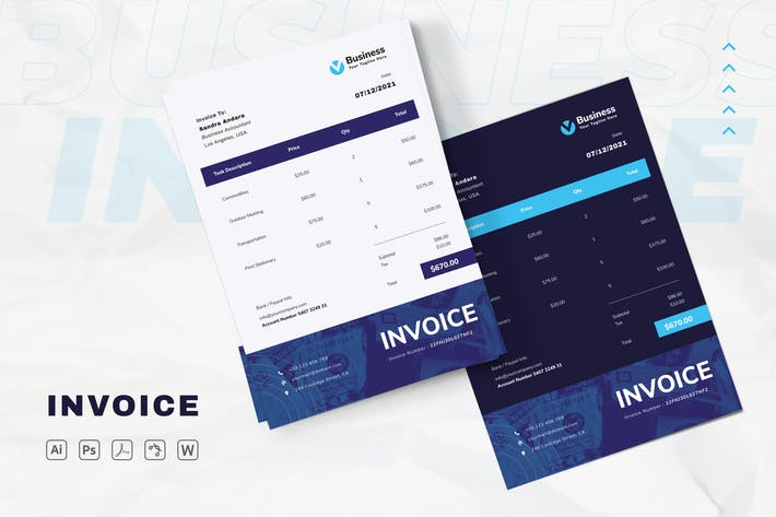 Thumbnail for Business Invoice