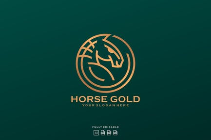 Horse Line Gold