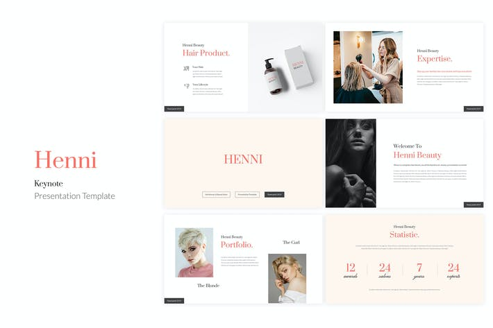 Thumbnail for Henni - Beauty Salon Keynote Template